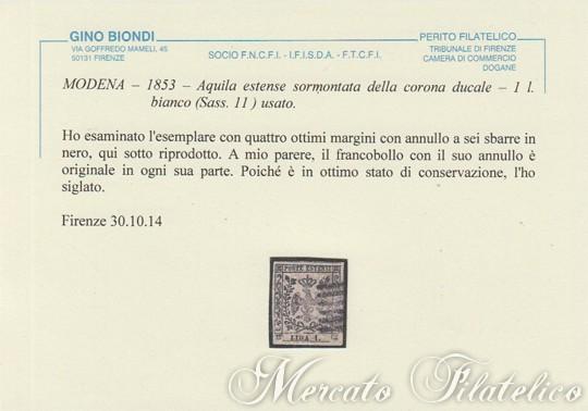 1 lira bianco certificato