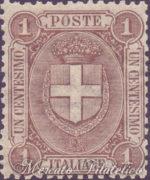 1 Centesimo bruno stemma di Savoia ★★