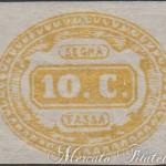 10 centesimi ocra segnatasse