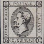 15 centesimi litografico nero