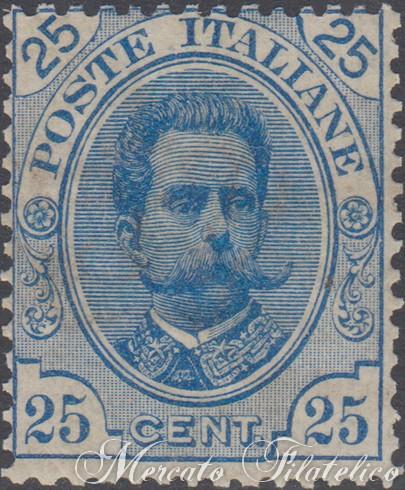 25 centesimi azzurro
