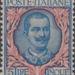 5 lire azzurro e rosa