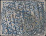 50 Baj azzurro oltremare scuro con stampa ossidata usato