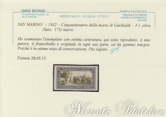 cinquantenario garibaldino certificato