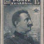 15 centesimi nero doppia varieta