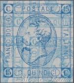 15 Centesimi litografico con stampa multipla recto-verso