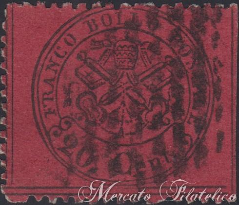 20 centesimi rosso bruno scuro