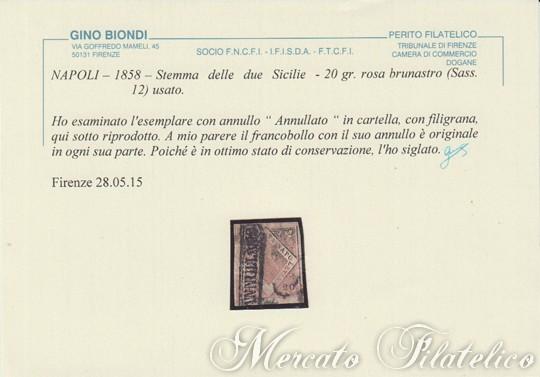 20 grana rosa brunastro certificato