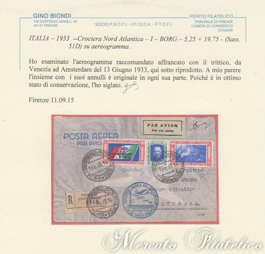 aerogramma trittico i-borg certificato