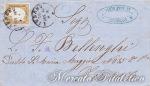 Lettera con 10 Centesimi bruno bistro Livorno – Firenze