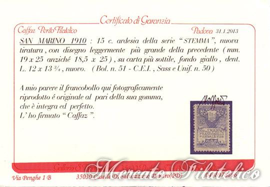 stemma su fondo giallo certificato