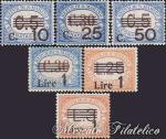 Segnatasse del 1925-27 soprastampati ★★