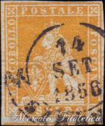 1 Soldo arancio su grigio usato