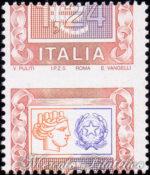 1,24 Euro Italia Turrita con dentellatura spostata ★★