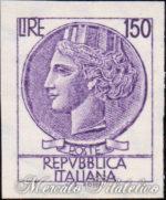 150 Lire Italia Turrita non dentellato ★★
