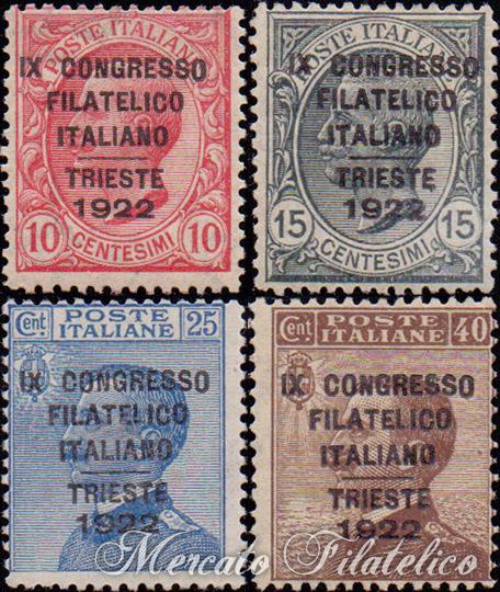 congresso filatelico trieste 1922