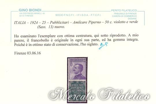 50c piperno certificato