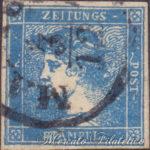 Testa di Mercurio azzurro usato