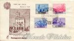 Paesaggi di San Marino su 5 buste FDC