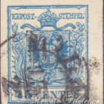 45 Centesimi azzurro III tipo usato