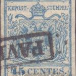 45 Centesimi azzurro ardesia II tipo usato