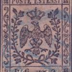 9 Centesimi Bollo Gazzette violetto grigio usato
