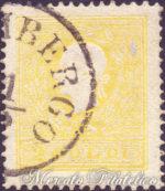2 Soldi giallo II tipo centrato usato