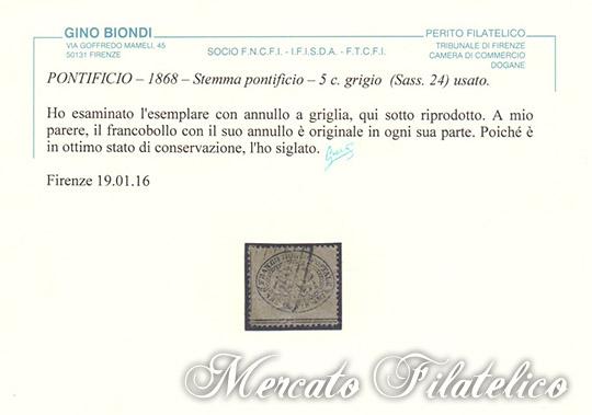 3 centesimi grigio certificato