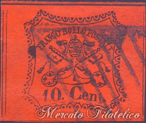 pontificio 10 cent 1867