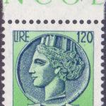 120 Lire Italia Turrita con volto verde ★★