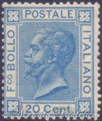 20 Centesimi azzurro tiratura di Torino ★
