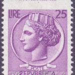25 Lire Italia Turrita con dentellatura spostata ★★