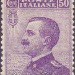 50 Centesimi violetto Vittorio Emanuele centrato ★★
