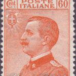 60 Centesimi giallo bruno Vittorio Emanuele ★★
