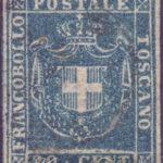 20 Centesimi azzurro chiaro usato