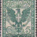 5 Centesimi Floreale verde azzurro ★★