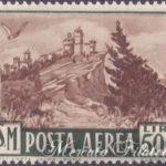 500 Lire bruno Veduta di San Marino ★★