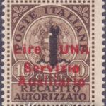 Servizio Ausiliario di Guidizzolo con soprastampa rossa ★★
